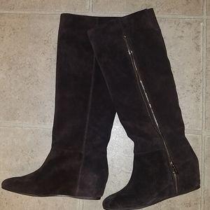 Bcbg Isanna Suede Wedge Boot never worn